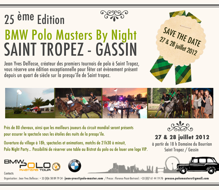 Save the Date Saint Tropez Polo Masters